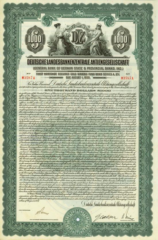 Deutsche Landesbankenzentrale AG (Central Bank of German State & Provincial Banks)