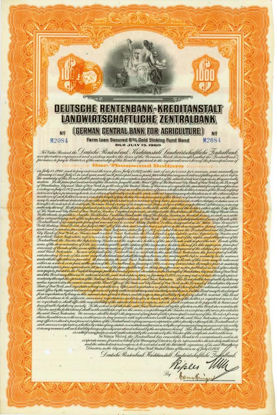 Deutsche Rentenbank-Kreditanstalt - Landwirtschaftliche Zentralbank (German Central Bank for Agriculture)
