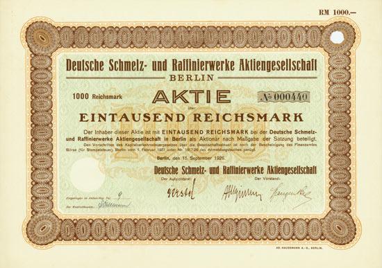 Deutsche Schmelz- und Raffinierwerke AG