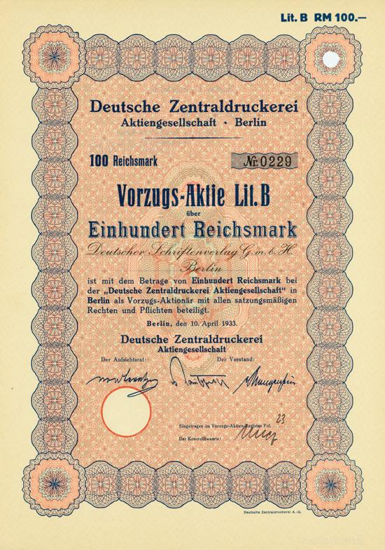 Deutsche Zentraldruckerei AG