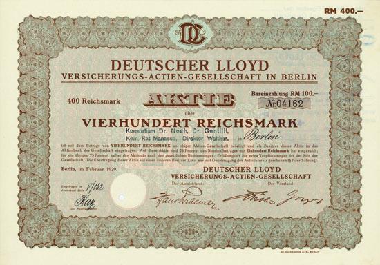 Deutscher Lloyd Versicherungs-AG