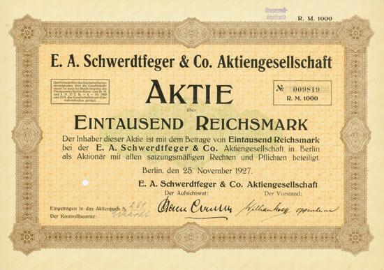 E. A. Schwerdtfeger & Co. AG