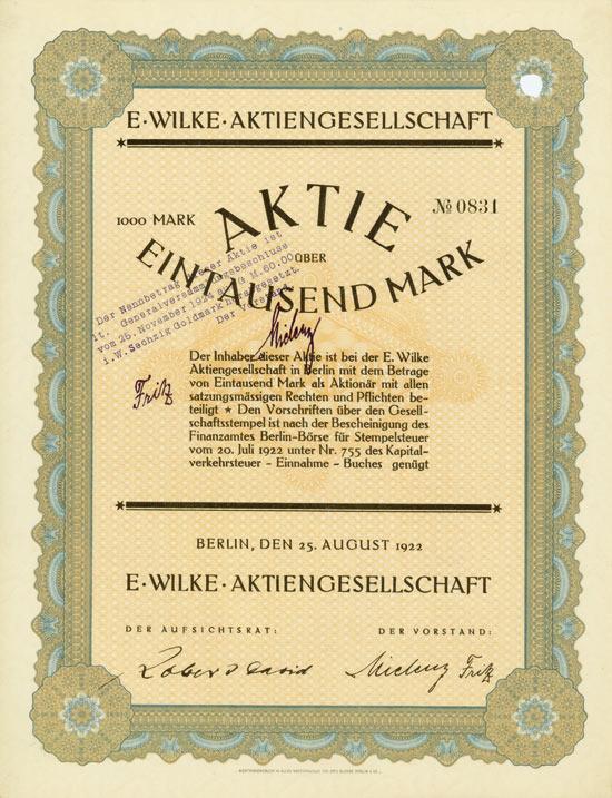 E. Wilke AG