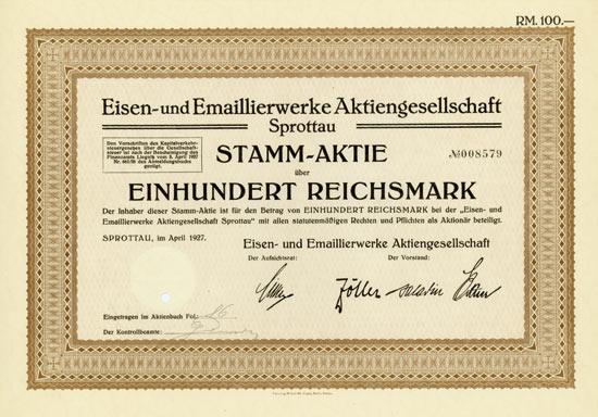 Eisen- und Emaillierwerke AG