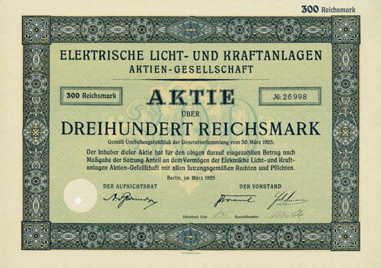 Elektrische Licht- und Kraftanlagen AG