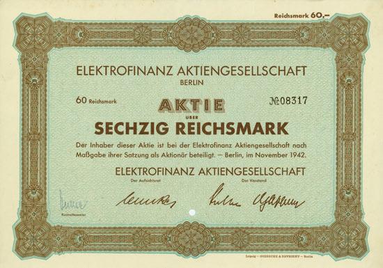 Elektrofinanz AG