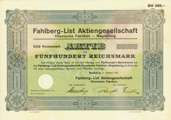 Fahlberg-List AG Chemische Fabriken
