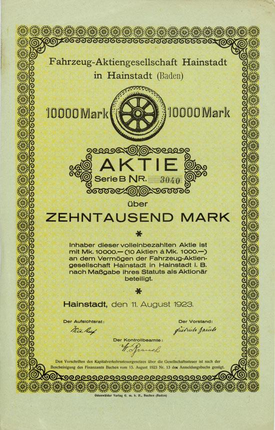 Fahrzeug-AG Hainstadt