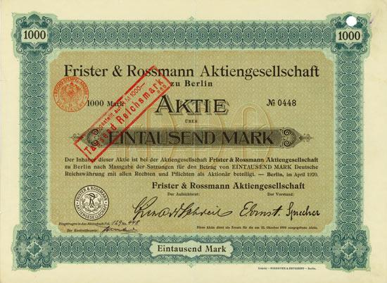 Frister & Rossmann AG