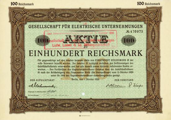 Gesellschaft für elektrische Unternehmungen