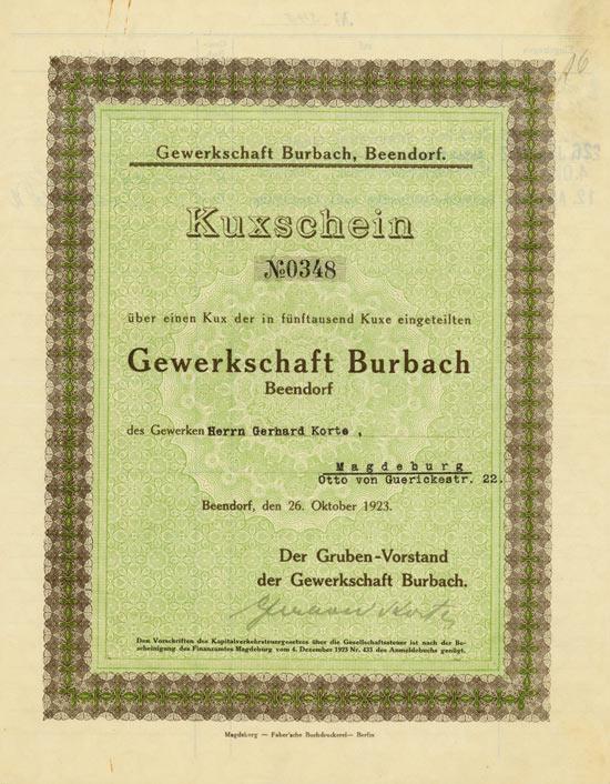 Gewerkschaft Burbach