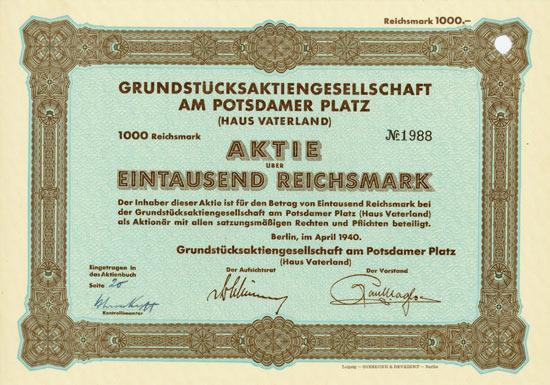 Grundstücks-AG am Potsdamer Platz (Haus Vaterland)