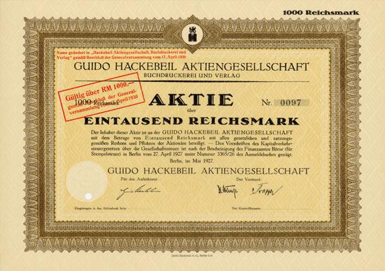 Guido Hackebeil AG