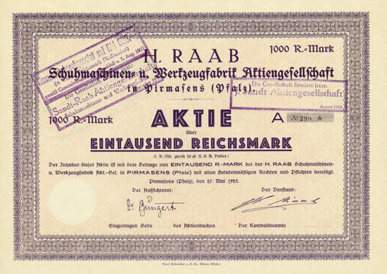 H. Raab Schumaschinen- und Werkzeugfabrik AG