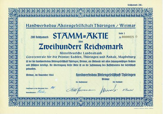 Handwerksbau Aktiengesellschaft Thüringen