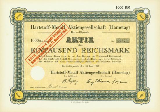 Hartstoff-Metall AG (Hametag)