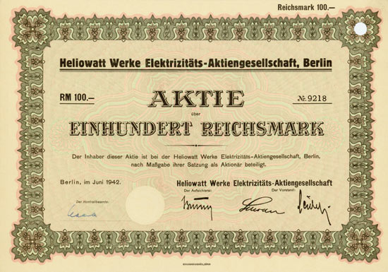 Heliowatt Werke Elektrizitäts-AG