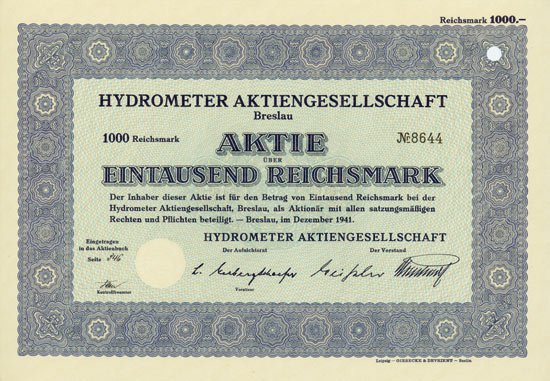 Hydrometer AG