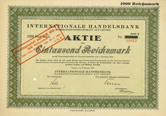Internationale Handelsbank KGaA