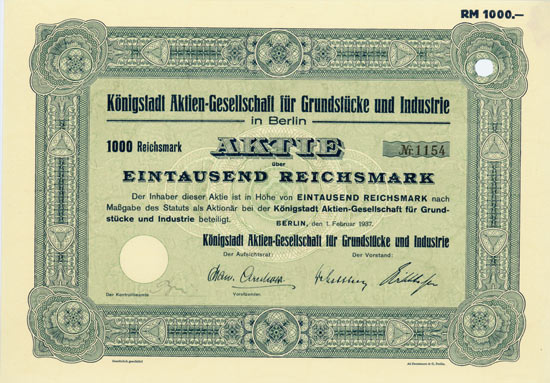 Königstadt AG für Grundstücke und Industrie
