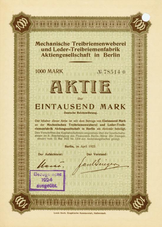 Mechanische Treibriemenweberei und Leder-Treibriemenfabrik AG