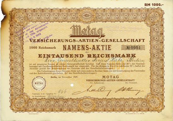 MOTAG Versicherungs-AG