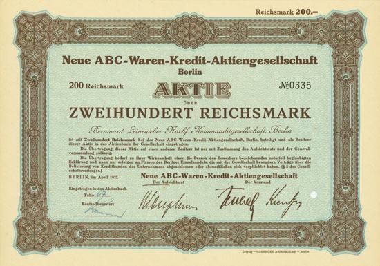 Neue ABC-Waren-Kredit-AG
