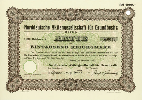 Norddeutsche Aktiengesellschaft für Grundbesitz