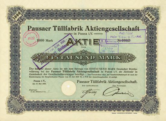 Pausaer Tüllfabrik AG