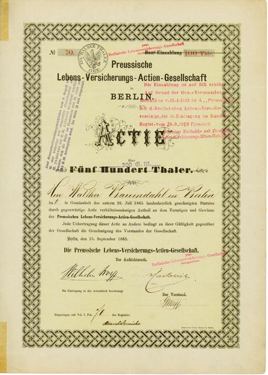 Preussische Lebens-Versicherung-AG