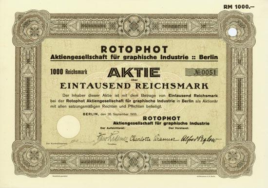 Rotophot AG für graphische Industrie