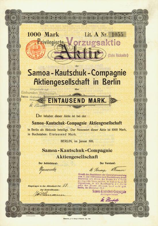 Samoa-Kautschuk-Compagnie AG