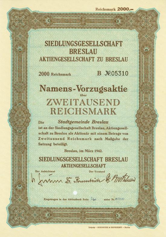 Siedlungsgesellschaft Breslau AG