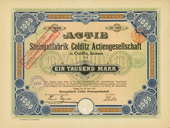 Steingutfabrik Colditz AG