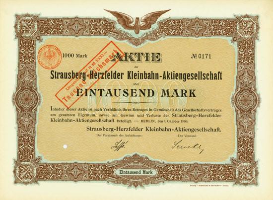 Strausberg-Herzfelder Kleinbahn-AG