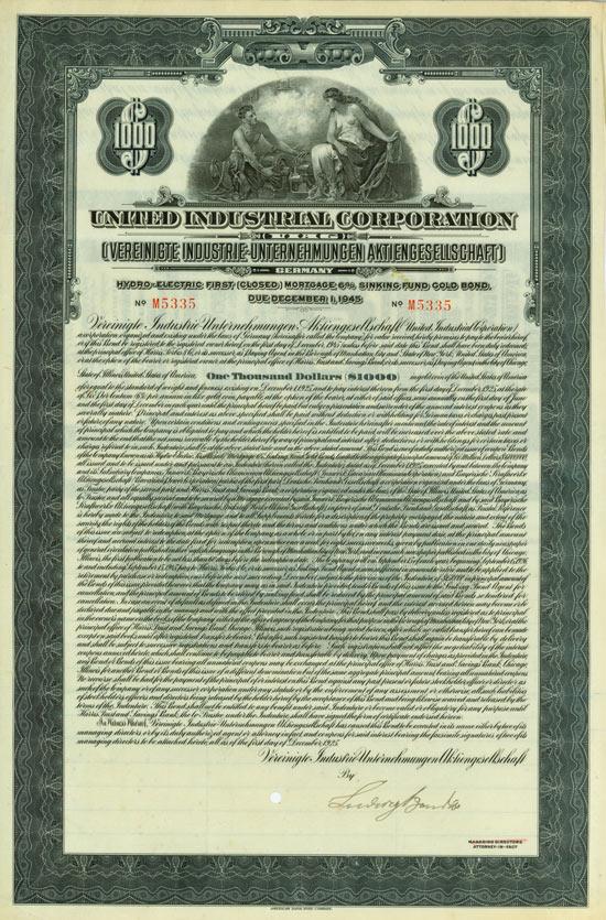United Industrial Corporation (Vereinigte Industrie-Unternehmungen AG)