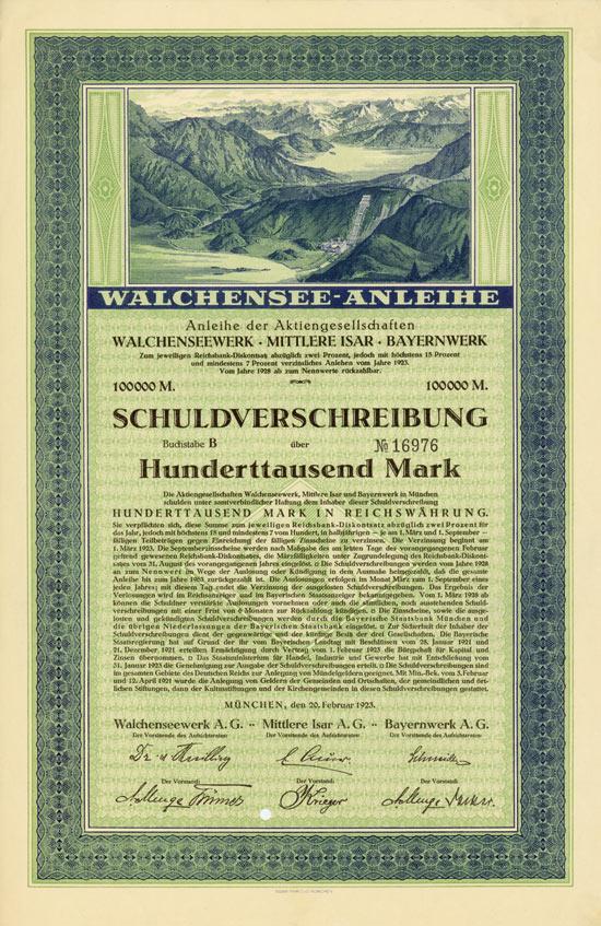 Walchenseewerk AG - Mittlere Isar AG - Bayernwerk AG