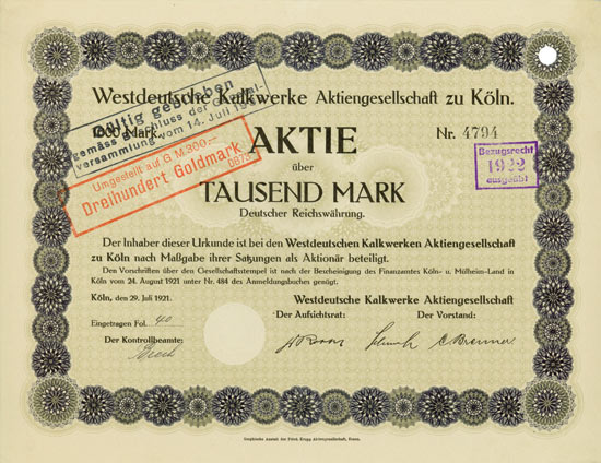 Westdeutsche Kalkwerke AG
