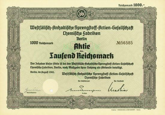 Westfälisch-Anhaltische Sprengstoff-AG Chemische Fabriken