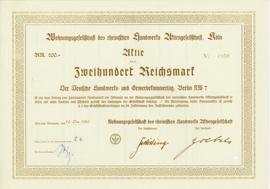 Wohnungsgesellschaft des rheinischen Handwerks AG