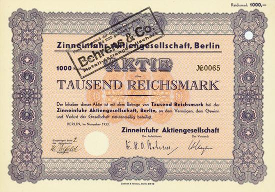 Zinneinfuhr AG