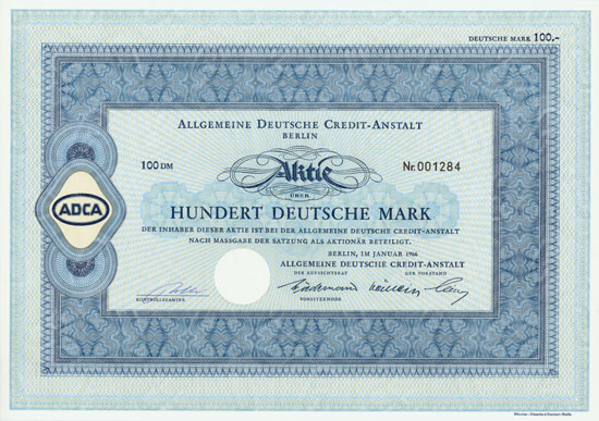 Allgemeine Deutsche Credit-Anstalt