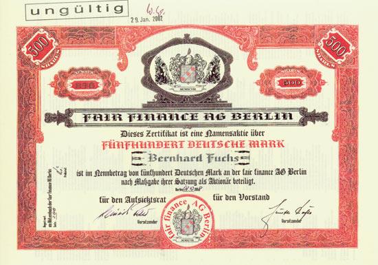 Fair Finance AG Berlin