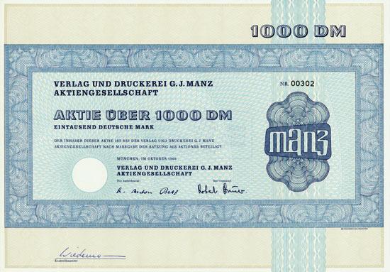 Verlag und Druckerei G. J. Manz AG