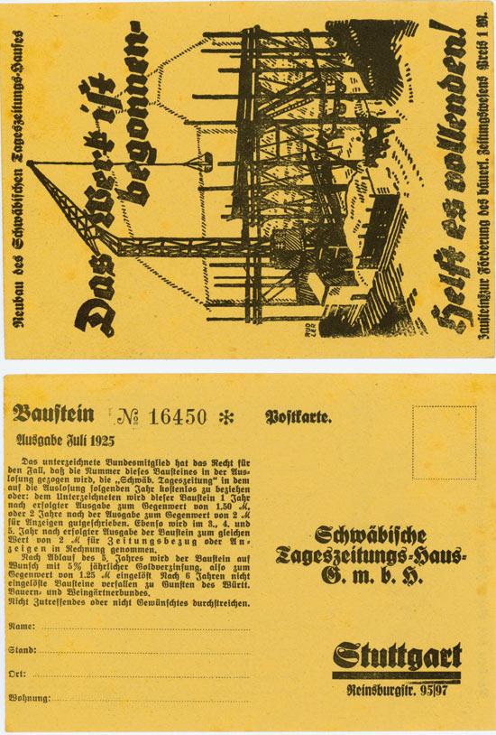 Schwäbisches Tageszeitungs-Haus G.m.b.H. [2 Stück]