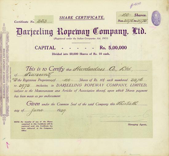 Darjeeling Ropeway Company, Ltd