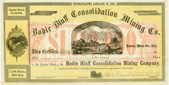 Bodie Bluff Consolidation Mining Co.