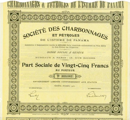 Société des Charbonnages et Pétroles de l'Isthme de Panama