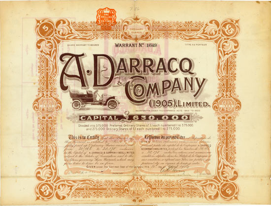 A. Darracq & Company (1905) Limited