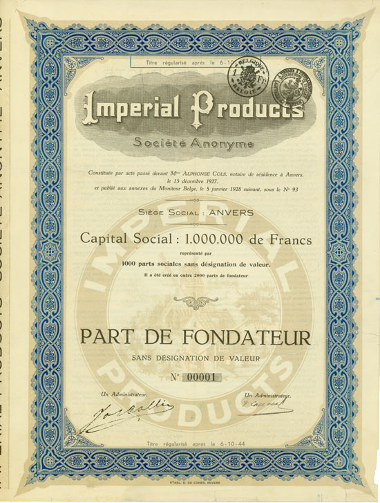 Imperial Products Société Anonyme